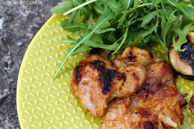 Grillowany kurczak w miodzie