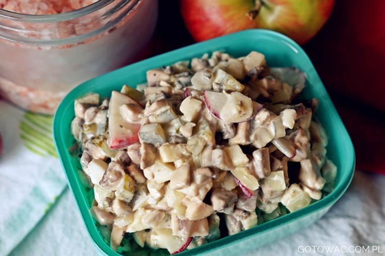 Sałatka z surowych pieczarek (Mama uczy gotować!)