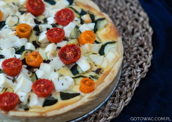 Tarta z pieczonymi warzywami
